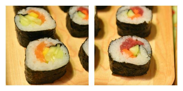 Futomaki Sushi Collage