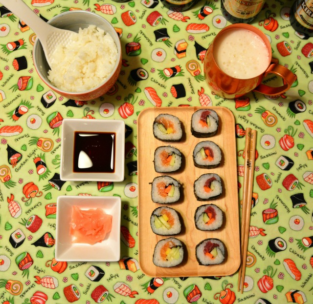 Futomaki Sushi From Above