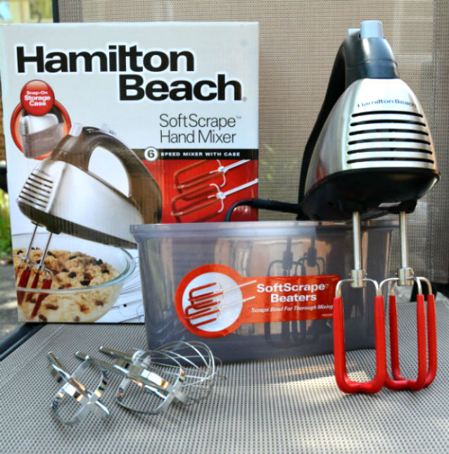 Hamilton Beach SoftScrape 6 Speed Hand Mixer with Case Crop