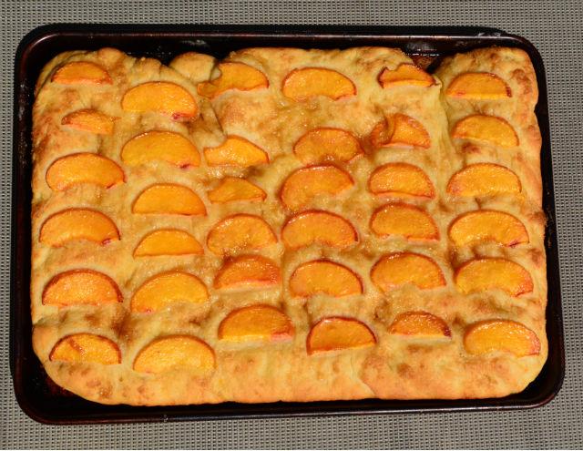 Baked Peach Focaccia