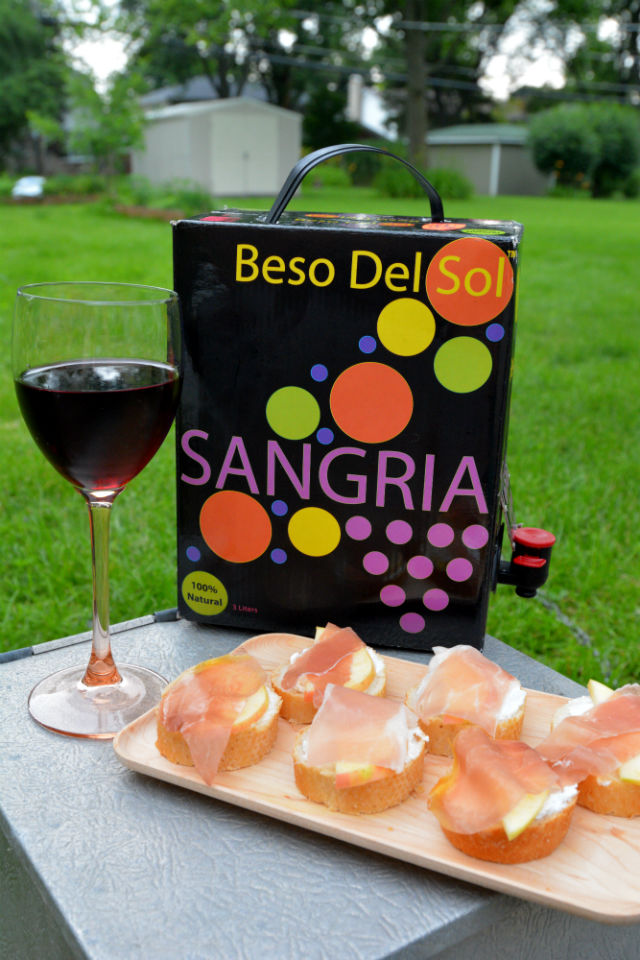 Beso Del Sol Sangria with Appetizers