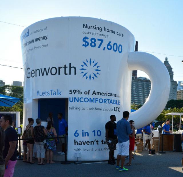 Genworth Lets Talk Mug Taste of Chicago