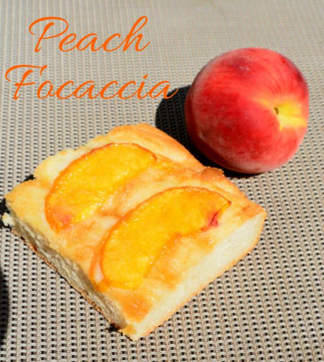 Peach Focaccia Pin