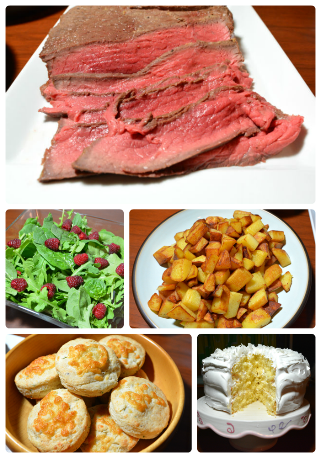 London Broil Bulgogi Style Collage
