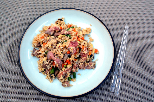 London Broil Bulgogi Style Fried Brown Rice