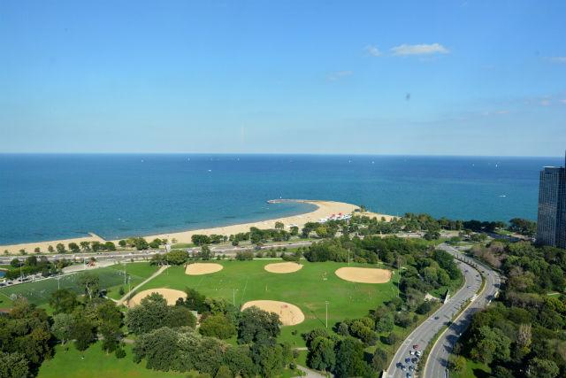 September Lake Michigan View 44th Floor